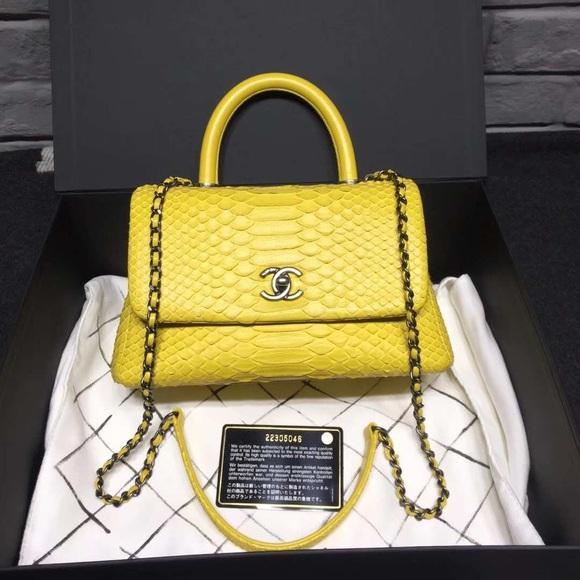5679919bc65c CHANEL Bags | Coco Handle Small Python Skin Bag | Poshmark